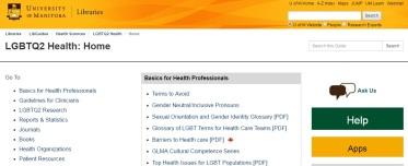 LGBTQ2 Health Libguide